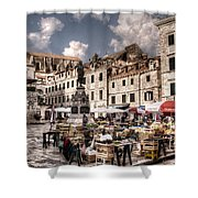 Market Day In The White City Shower Curtain