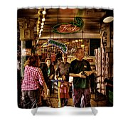 Market Fresh At Pike Place Market Shower Curtain