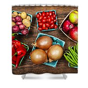 Market Fruits And Vegetables Shower Curtain