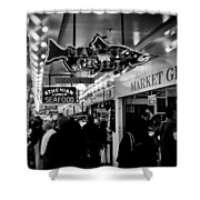 Market Grill In Pike Place Market Shower Curtain