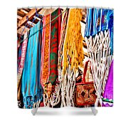 Market Hammocks In El Casco By Diana Sainz Shower Curtain
