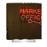 Market Office To The Right Shower Curtain