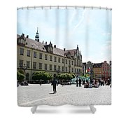 Market Place Wroclaw Shower Curtain