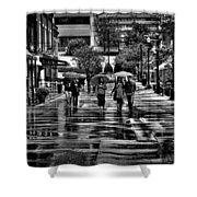 Market Square In The Rain - Knoxville Tennessee Shower Curtain