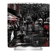 Market Square Shoppers - Knoxville Tennessee Shower Curtain