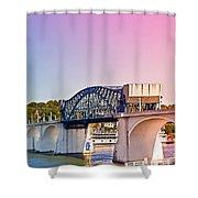 Market Street Bridge Shower Curtain
