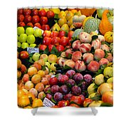 Market Time II Shower Curtain