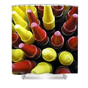 Marking Crayons Shower Curtain