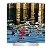 Marking The Tides Shower Curtain