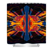 Marking Time Into Space Abstract Spiritual Artwork Shower Curtain