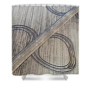 Marks On The Ground Aerial Photography Shower Curtain