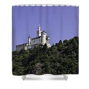 Marksburg Castle 24 Squared Shower Curtain