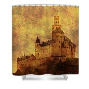 Marksburg Castle In The Rhine River Valley Shower Curtain