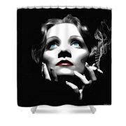Marlene Dietrich Portrait Shower Curtain