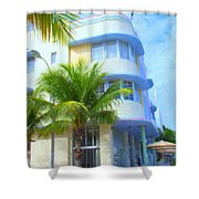 Marlin Hotel Side View Shower Curtain
