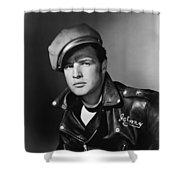 Marlon Brando In The Wild One 1953 Shower Curtain