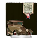 Marmon 34  - Vintage Poster Shower Curtain