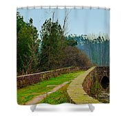 Marnel Medieval Bridge Shower Curtain