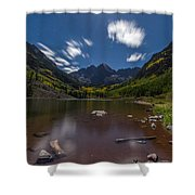 Maroon Bells At Night Shower Curtain