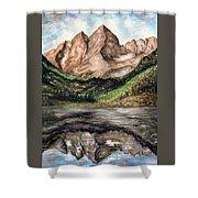 Maroon Bells Colorado - Landscape Shower Curtain