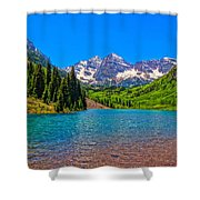 Maroon Bells In Color Shower Curtain
