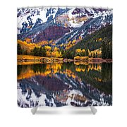 Maroon Lake Backside Shower Curtain