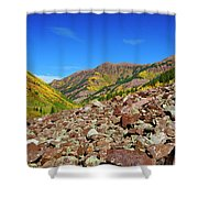 Maroon Valley Shower Curtain