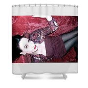 Marooned - Self Portrait Shower Curtain