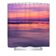 Marquette Sunset On Ice Shower Curtain