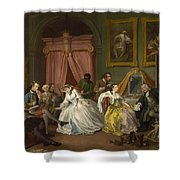 Marriage A-la-mode  The Toilette Shower Curtain