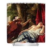Mars And The Vestal Virgin Shower Curtain