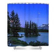Mars Over Mt. Rundle Shower Curtain