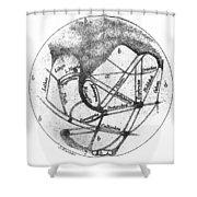 Mars: Schiaparelli, 1877 Shower Curtain