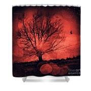 Mars Tree Shower Curtain