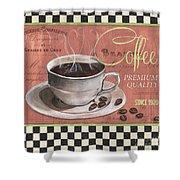 Marsala Coffee 1 Shower Curtain