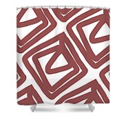 Marsala Envelopes- Abstract Pattern Shower Curtain