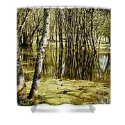 Marsh At Cheadle Lake Shower Curtain