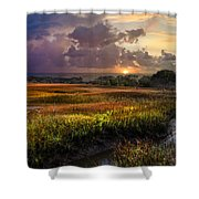 Marsh At Sunrise Shower Curtain
