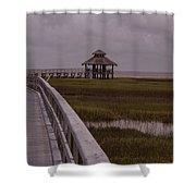Marsh Boardwalk Shower Curtain