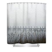 Marsh Dock Shower Curtain