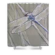 Marsh Dragonfly Shower Curtain