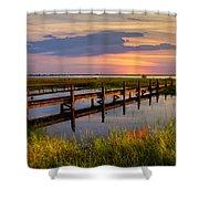 Marsh Harbor Shower Curtain