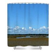 Marsh In Panacea Florida Shower Curtain