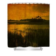 Marsh Island Sunset Shower Curtain