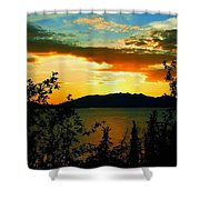 Marsh Lake - Yukon Shower Curtain