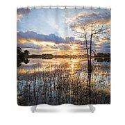 Marsh Sunrise Shower Curtain
