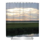 Marsh Sunset 1 Shower Curtain