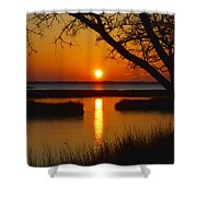 Ocean City Sunset At Old Landing Road Shower Curtain