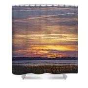 Marsh Sunset Shower Curtain