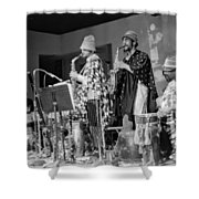 Marshall Allen And Danny Davis Shower Curtain by Lee  Santa